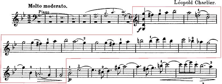 「ヴィターリのシャコンヌ」ヴァイオリン楽譜2