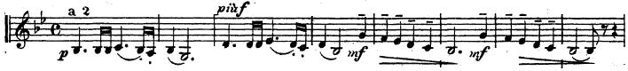 チャイコフスキー「交響曲第5番ホ短調Op.64」トランペット楽譜1