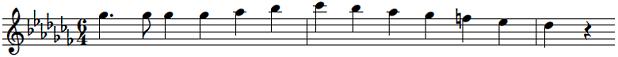 移調読み楽譜AからB♭1