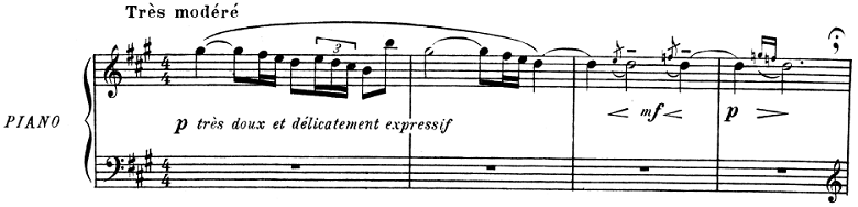 ドビュッシー「子供の領分 第5曲「小さな羊飼い」」ピアノ楽譜1
