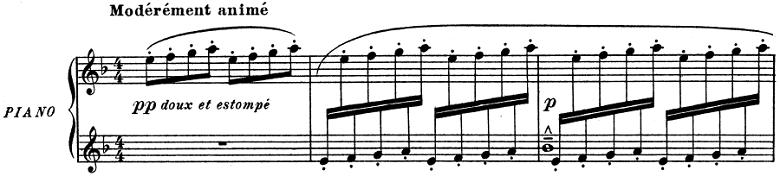 ドビュッシー「子供の領分 第4曲「雪は踊っている」」ピアノ楽譜1