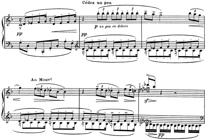 ドビュッシー「子供の領分 第4曲「雪は踊っている」」ピアノ楽譜2