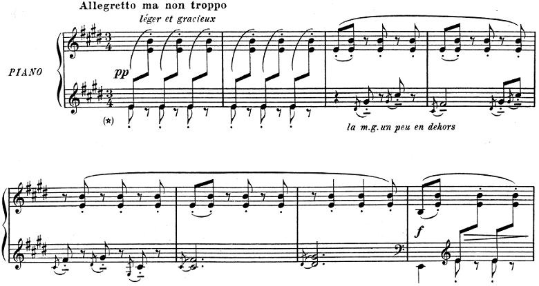 ドビュッシー「子供の領分 第3曲「人形へのセレナード」」ピアノ楽譜