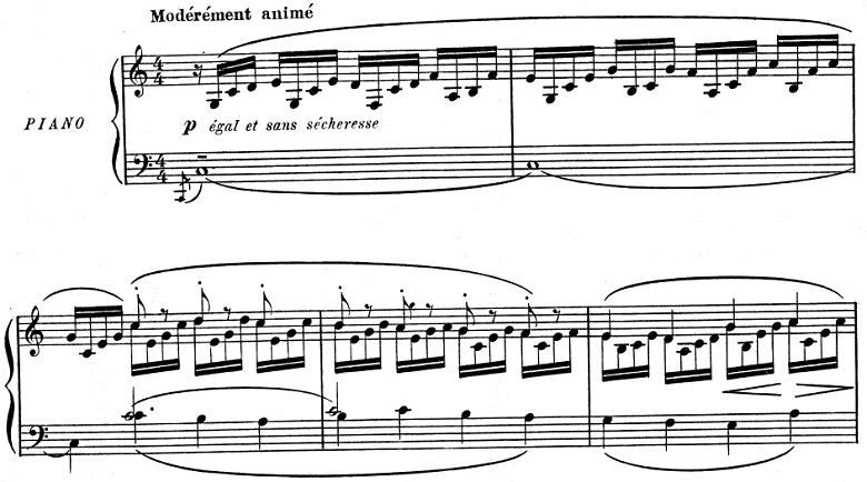 ドビュッシー「子供の領分 第1曲「グラドゥス・アド・パルナッスム博士」」ピアノ楽譜