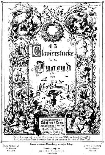 シューマン「ユーゲントアルバム(子供のためのアルバム)」ピアノ楽譜1