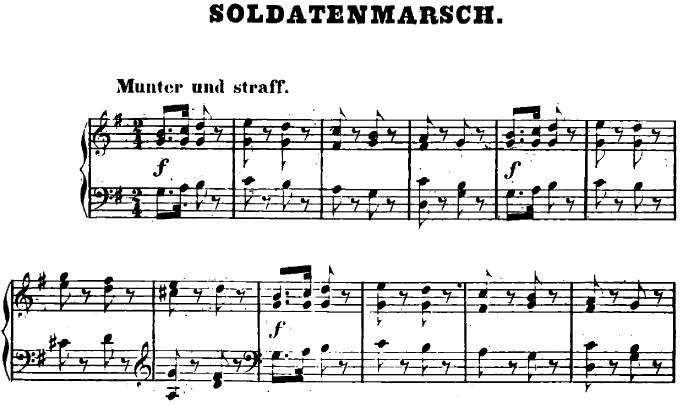 シューマン「ユーゲントアルバム(子供のためのアルバム)2「兵士の行進」」ピアノ楽譜