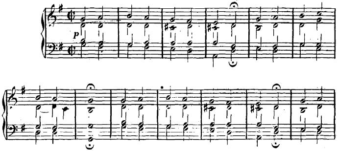 シューマン「ユーゲントアルバム(子供のためのアルバム)4「コラール」」ピアノ楽譜