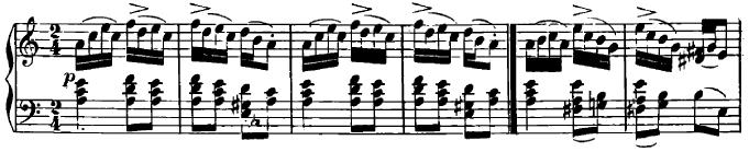 シューマン「ユーゲントアルバム(子供のためのアルバム)11「シシリアふうに」」ピアノ楽譜2