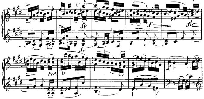 シューマン「ユーゲントアルバム(子供のためのアルバム)13「愛しい五月よ、お前はまたやって来た」」ピアノ楽譜1