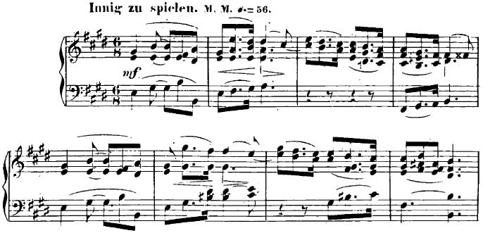 シューマン「ユーゲントアルバム(子供のためのアルバム)15「春の歌」」ピアノ楽譜