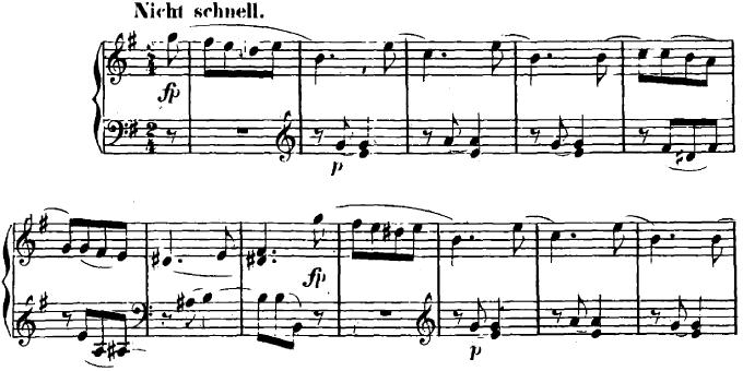 シューマン「ユーゲントアルバム(子供のためのアルバム)16「最初の喪失」」ピアノ楽譜1