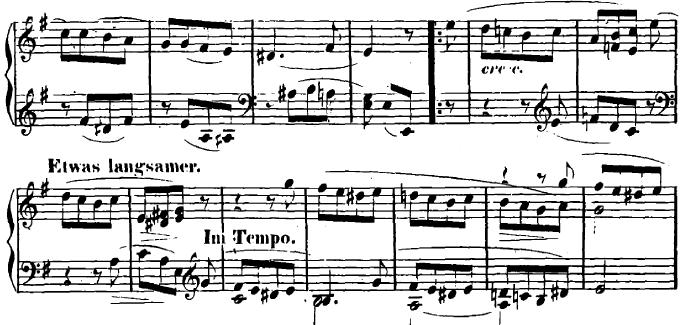 シューマン「ユーゲントアルバム(子供のためのアルバム)16「最初の喪失」」ピアノ楽譜2