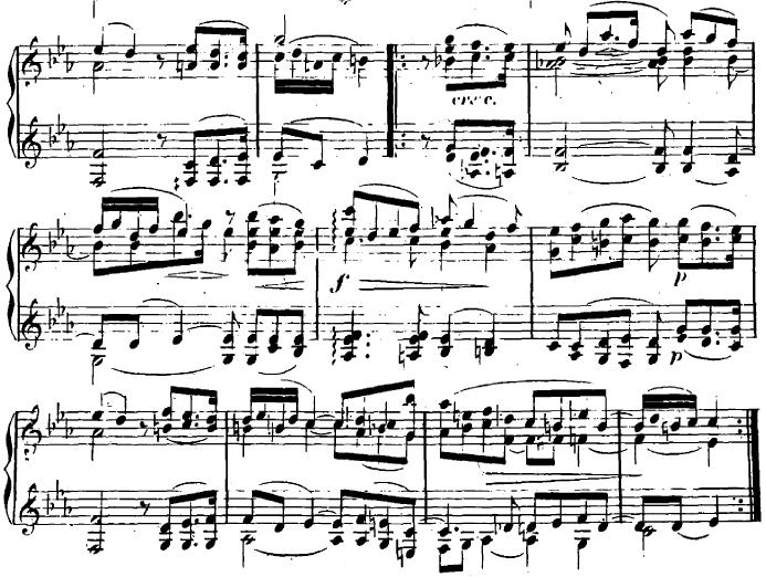 シューマン「ユーゲントアルバム(子供のためのアルバム)38「冬期Ⅰ」」ピアノ楽譜