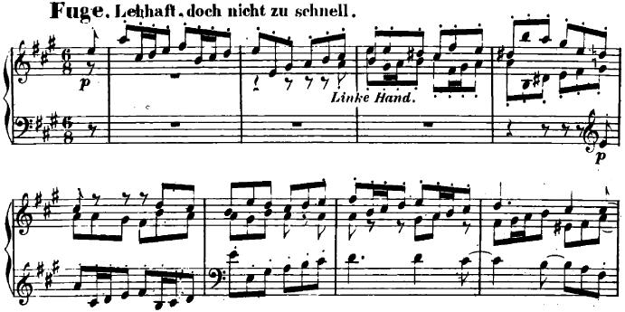シューマン「ユーゲントアルバム(子供のためのアルバム)40「小さなフーガ」」ピアノ楽譜2