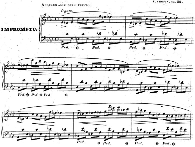 ショパン「即興曲第1番」ピアノ楽譜1
