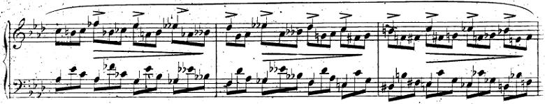 ショパン「即興曲第1番」ピアノ楽譜2