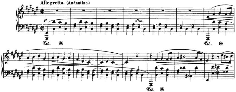 ショパン「即興曲第2番」ピアノ楽譜1